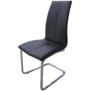 Bjärs stol - Svart/krom