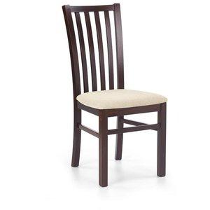 Margaret 7 stol - mörk valnöt/beige