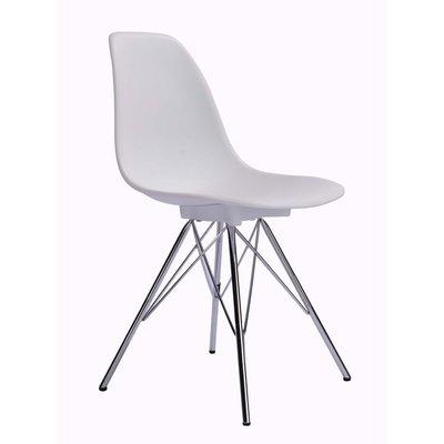 Tomelilla stol - Vit/krom