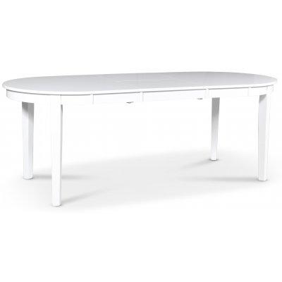 Gåsö ovalt matbord förlängningsbart 160-210 cm - Vit