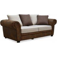 Delux 2-sits soffa med kuvertkuddar - Brun/Beige