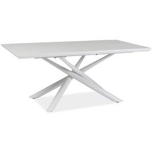 Renee matbord - Vit/metall