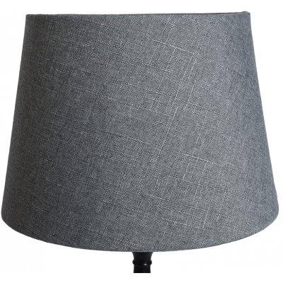 Rund lampskärm 27x35x25 cm - Grå (linne)