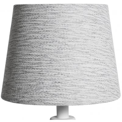 Rund lampskärm 18x23x18 cm - Ljus (grovt linne)