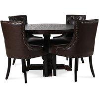 Lamier matgrupp Bord med 4 st Tuva stolar i brun PU