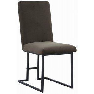 Simple stol - Olive sammet