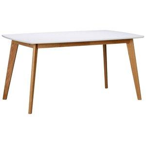 Olivia matbord 150 cm - Vit/ek