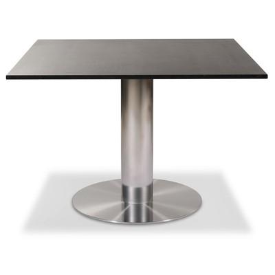 Next 108 cm matbord - Borstad stål / Marmor (Donau Granit)