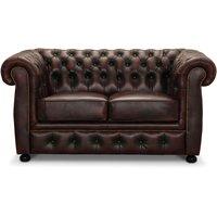 Dublin 2-sits soffa - Oxblod läder