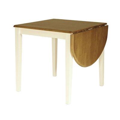 Brisbane matbord - 75x75 - vit/ekbets
