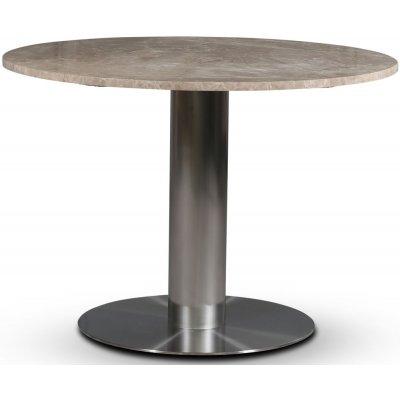SOHO matbord Ø105 cm - Borstat aluminium / Beige Empradore