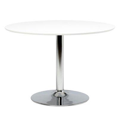 Ibiza matbord - vit/krom - ø110 cm