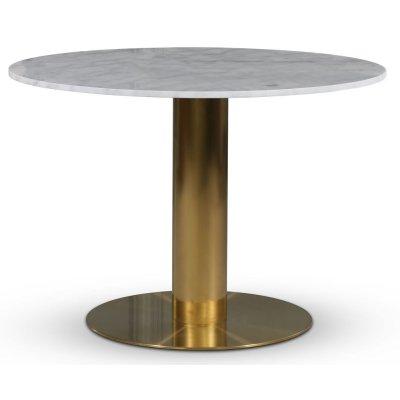 Empire matbord - Ljus marmor / Borstad mässing