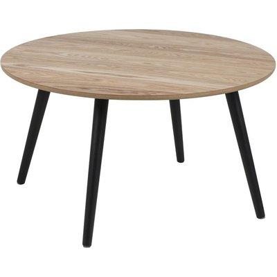 Dunfermline soffbord Ø80 - Ljus ask/svart