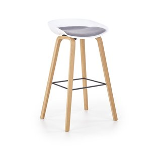 Christie barstol - Vit/grå
