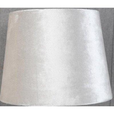 Velvet lampskärm 20 cm - Beige