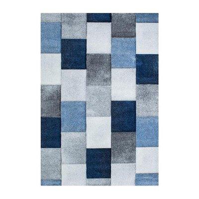 Maskinvävd matta Serena - Blå