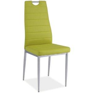 Priscilla stol - Grön/krom