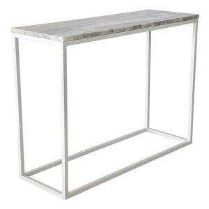Accent konsolbord - Vit marmor/Vit