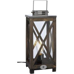 Nautica bordslampa - Brun/krom