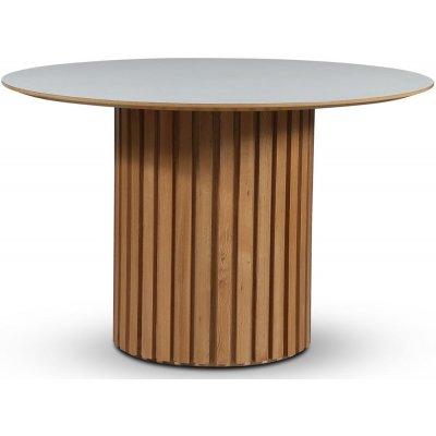 Sumo matbord Ø118 cm - Oljad ek / Perstorp vit laminat