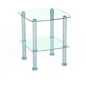 Kiera lampbord - Metall/glas