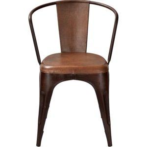 Stol Living - Läder/rostfärgad metall