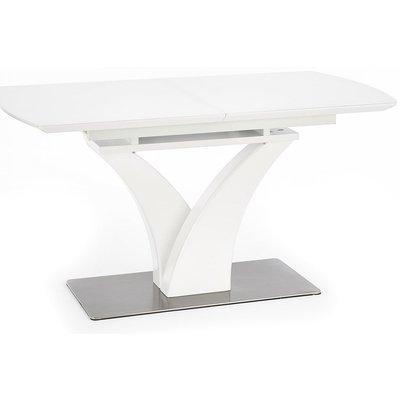 Dina matbord 140 till 180 cm - Vit Högglans