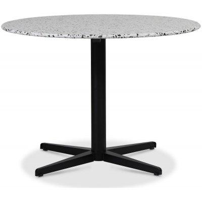 SOHO matbord Ø105 cm - Matt svart kryssfot / Terrazzo Cosmos