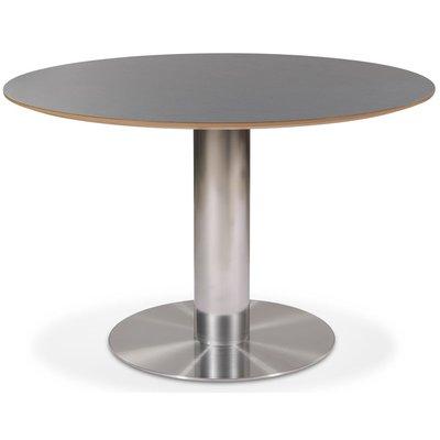 Next 118 runt matbord - Borstad stål / Mörk virrvarr
