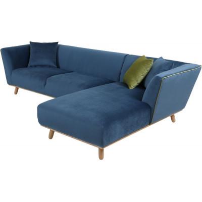 Hannes 2-sits soffa med Divan - Blå