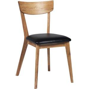 Allie stol - Ek/svart konstläder