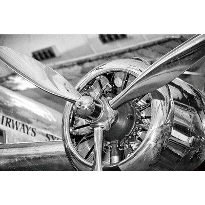 Glastavla Airplane engine - 120x80 cm