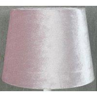 Velvet lampskärm 23 cm - Rosa