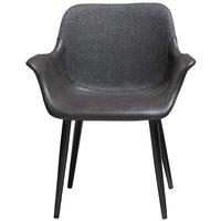 Combino karmstol - Vintage grå konstläder