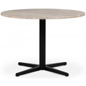 SOHO matbord Ø105 cm - Matt svart kryssfot / Beige Empradore