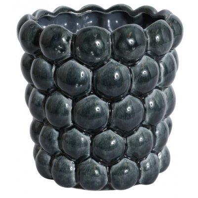 Kruka Big Bouble H18 cm - Blå (Glansig)
