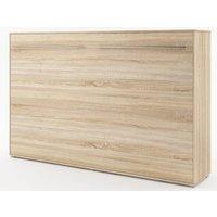 Sängskåp compact living Horisontellt (120x200 cm fällbar säng) - Ljus ek