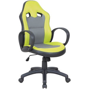 Basheer skrivbordsstol - Celadon/grå