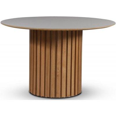 Sumo matbord Ø118 cm - Oljad ek / Perstorp ljus virrvarr