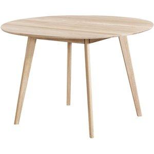 Katie runt matbord ø115 cm - Whitewash ek