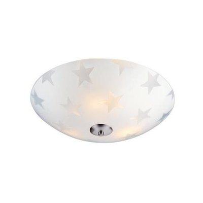 Star Taklampa 43 - Frostat glas/Stål