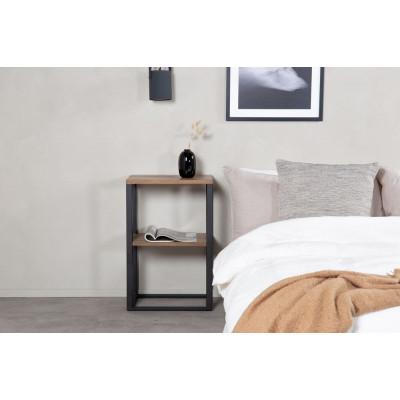 Arvaby sängbord - Svart/teak