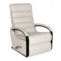 Lazboy Norman reclinerfåtölj i skinn / pvc - vit