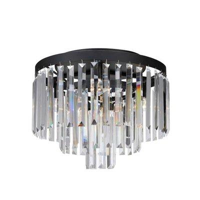 Ventimiglia Taklampa 4 - Svart/Kristall