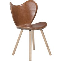Butterfly stol - Ljusbrun läder / ek