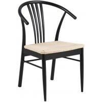 York stol - Svart bets / Flätad sits