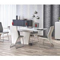 Aage matbord utdragbart 160-200 cm - Vit högglans