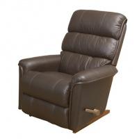 Lazboy New Haven reclinerfåtölj i skinn / pvc - Mocca brun / körsbärsträ