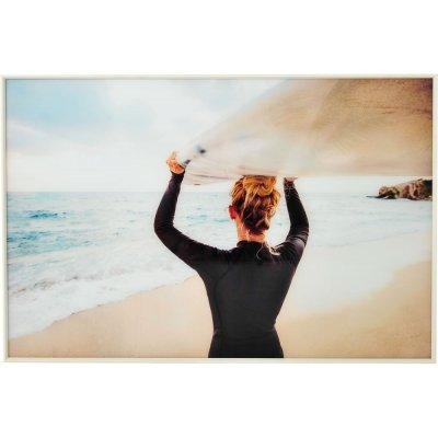 Glastavla Surf Nero - Vit ram